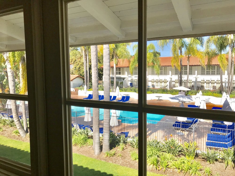 Many guest rooms have poolside views. @OmniLaCosta Resort & Spa