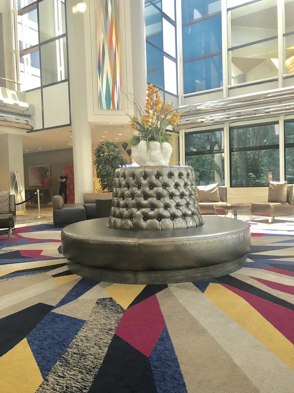 Lobby at Hilton Universal - Hotel has 495 Guest Rooms
