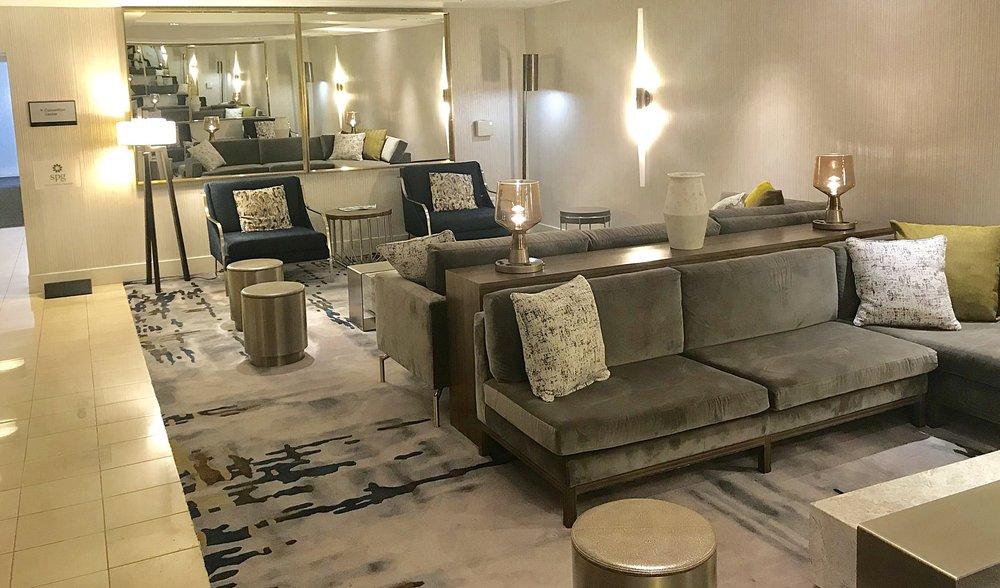 Newly renovated Lobby at Sheraton Pasadena.