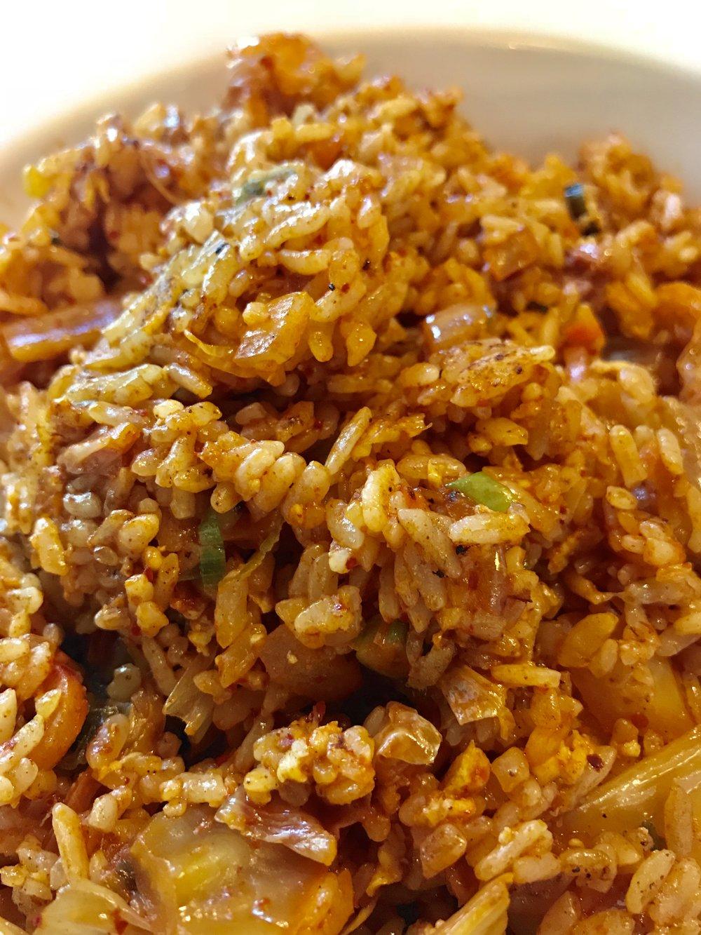 My favorite, Kimchi Fried Rice with Tofu! @WasabiKoreatown