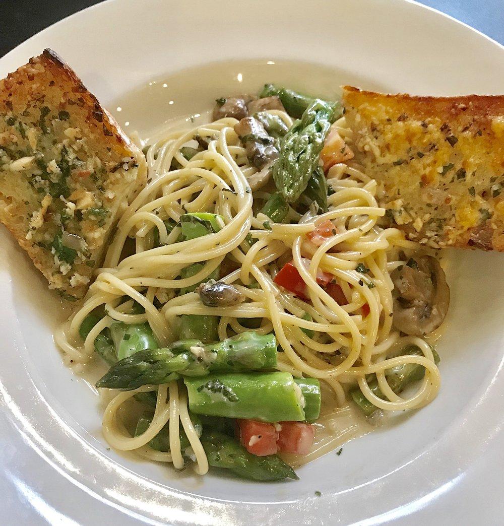 Pasta with mushrooms & Fresh Veggies @AirtelPlazaHotel