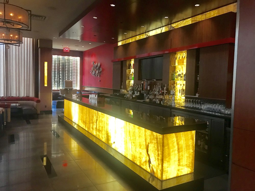 Bar inside Marriott at Glenpoint