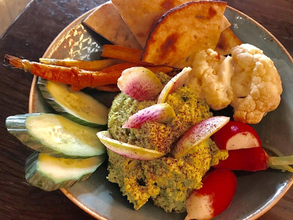 Homemade Hummus and fresh Veggies!