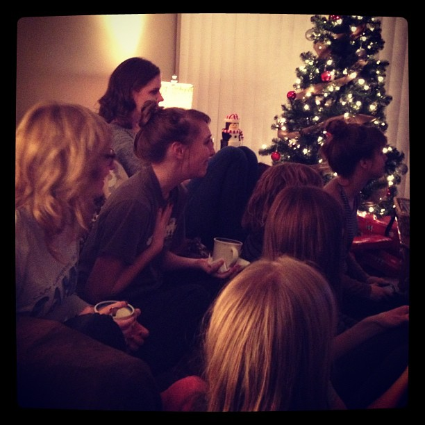 The 5th annual Little Women Christmas party. Only the best of movies. Photo cred to Kirsten and her iPhone.