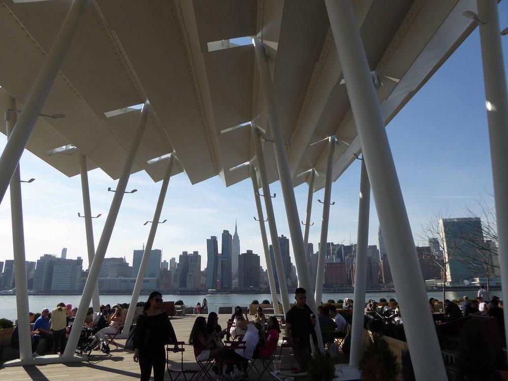 Pavillion outdoor dining & views to Manhattan Skyline