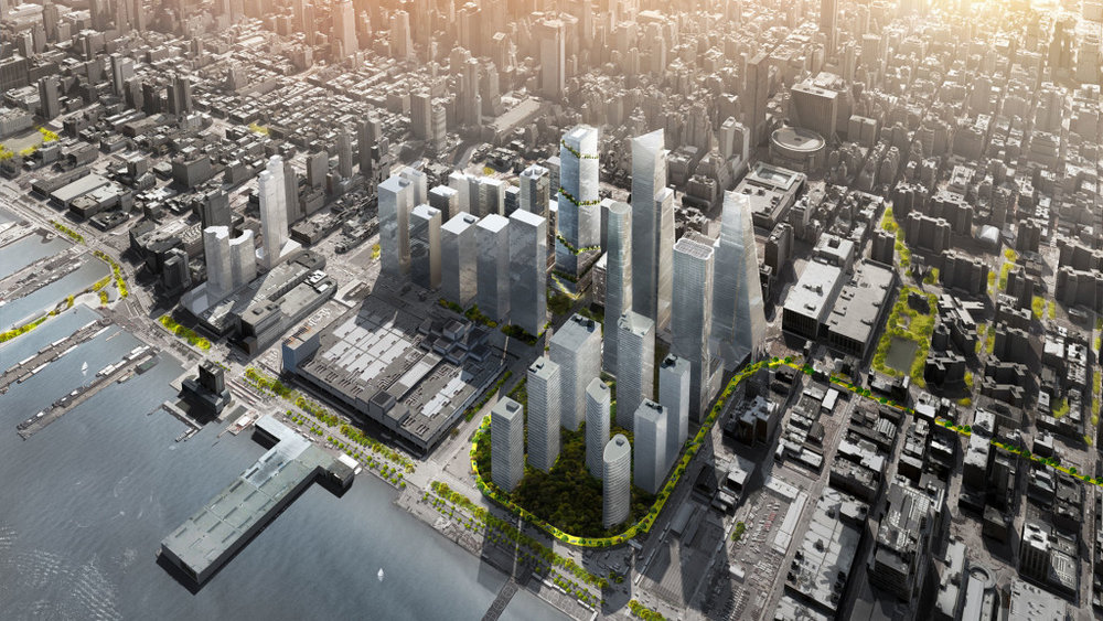 Aerial perspective of Hudson Yards model   Source: Hudson Yards web site