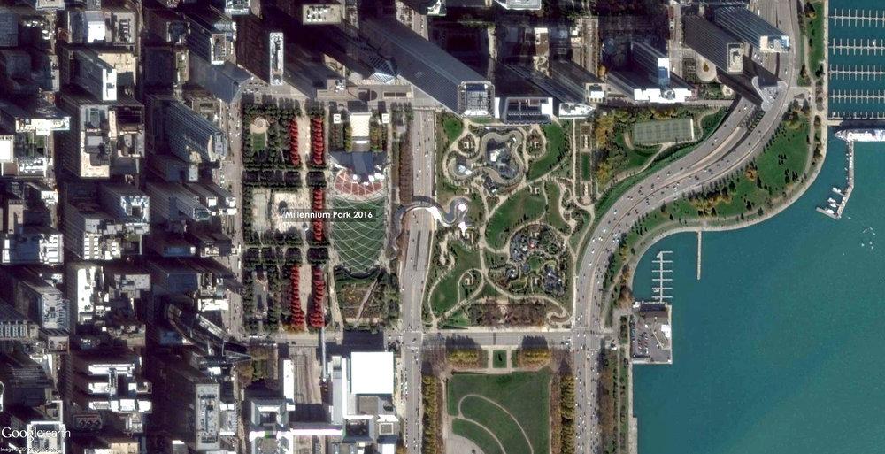 Millennium Park 2016 Source: Google Earth