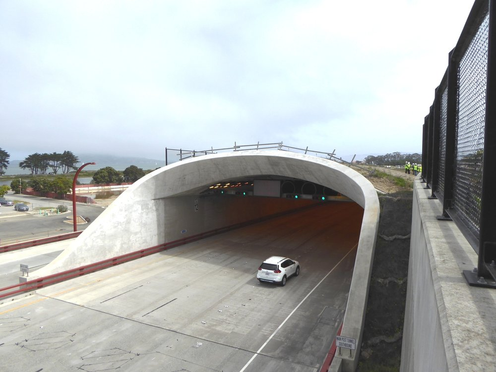 Tunnel entrance travelling south