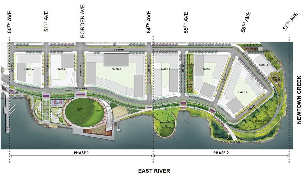 Hunter's Point South Project Plan   Source: New York City Economic Development Corporation
