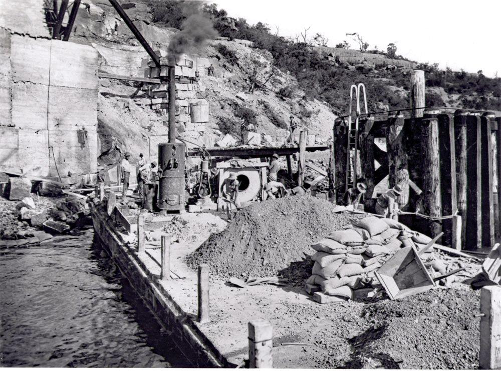 Coal Loader under construction
