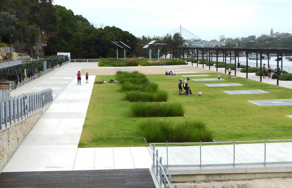View over platform from viewing area adjoining entry ramp