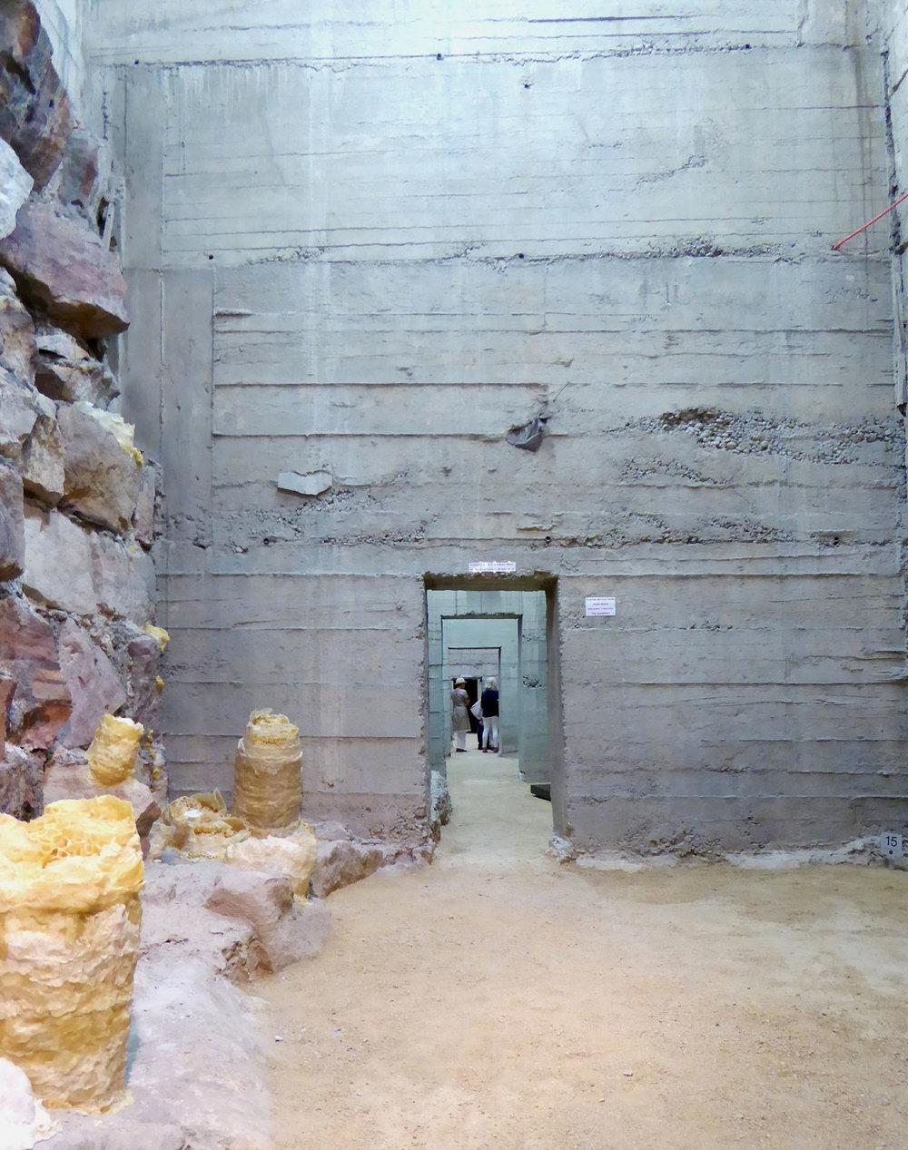 Exhibition space below platform