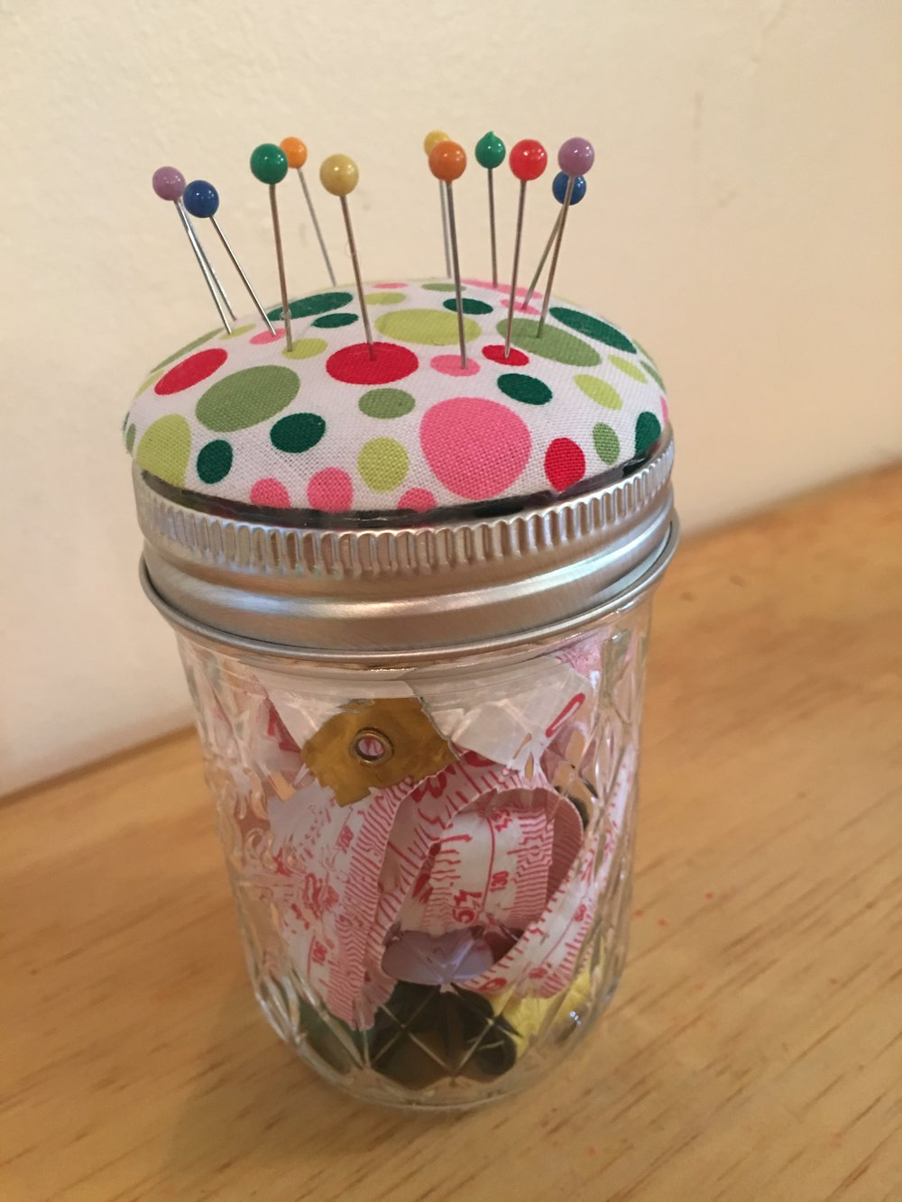 Upper Elementary made sewing jars for their Moms.