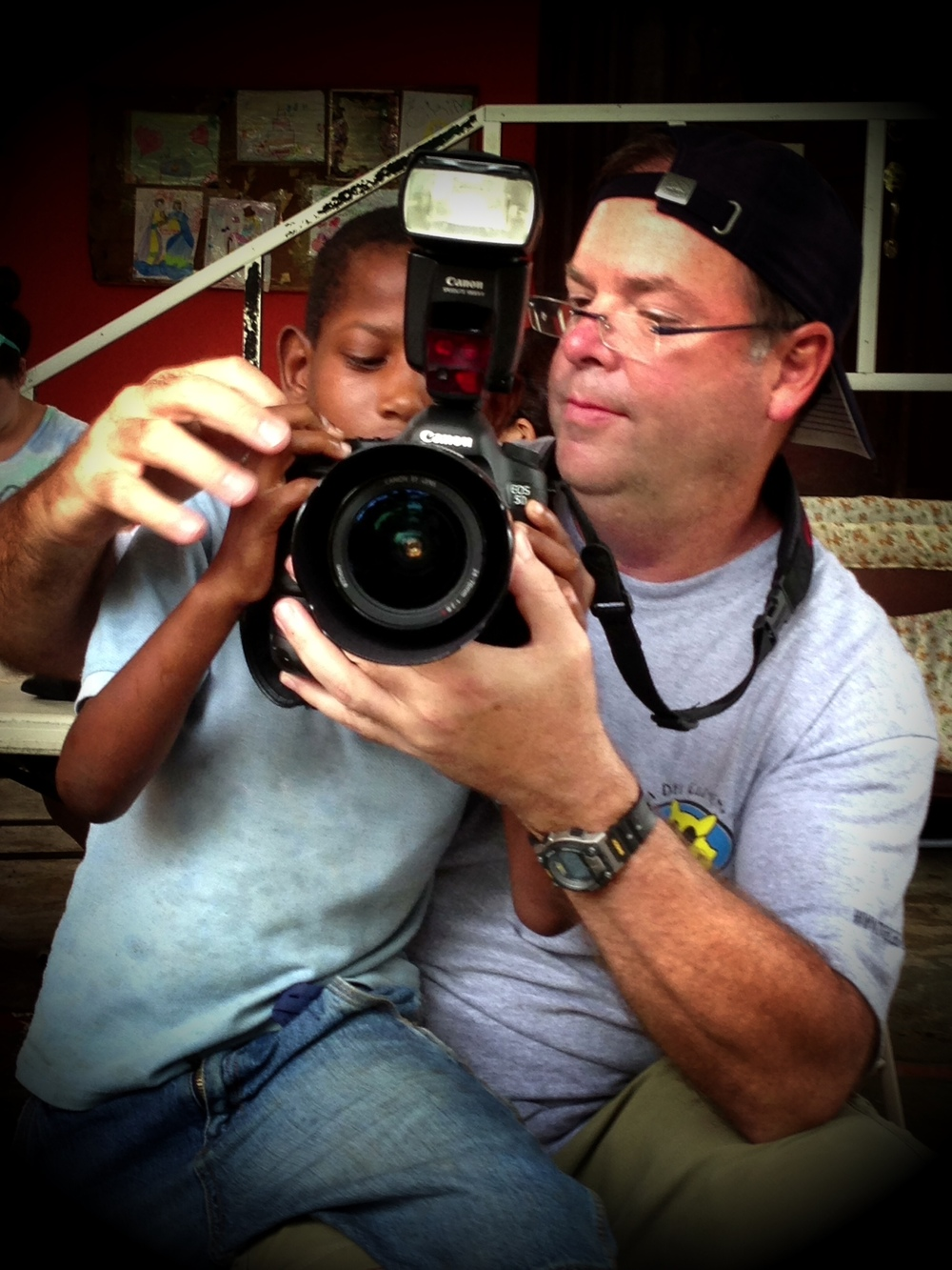 Introducing photography to kids on a youth mission trip to the Dominican Republic.