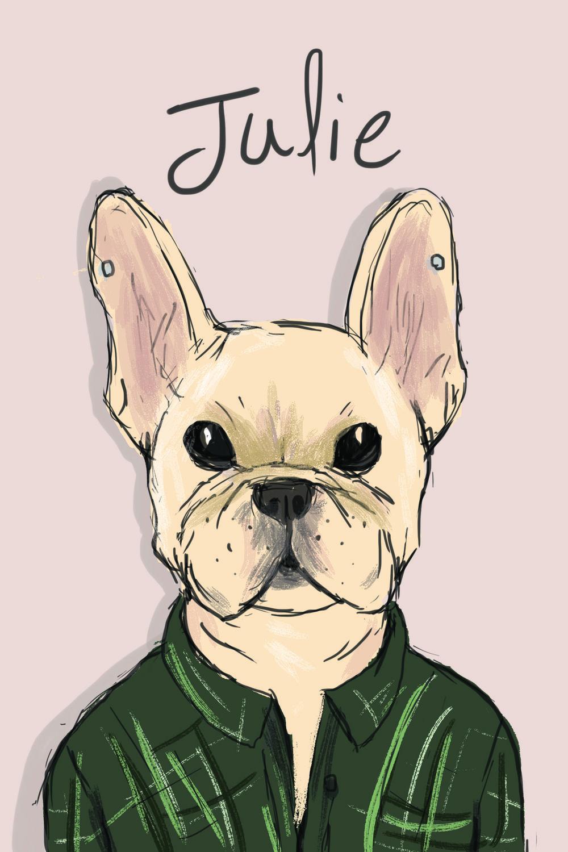 Julie Kim as a dog