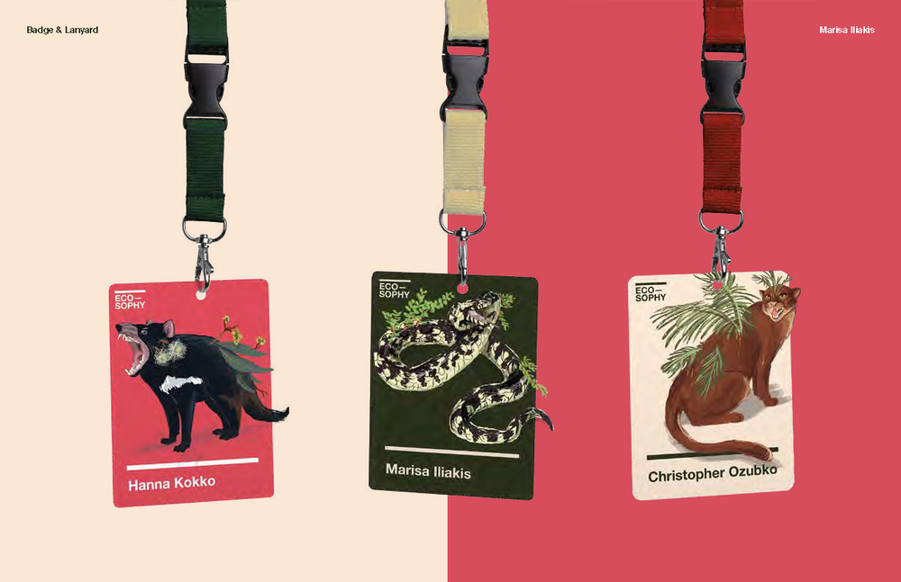 Conference badges. Left to right: speaker, student, participant