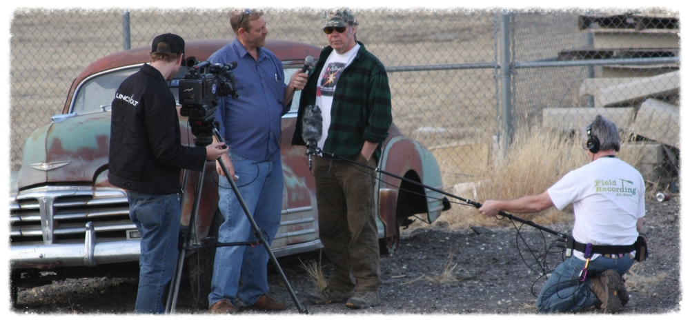 On location in Kansas, while filming Lincvolt-Repowering The American Dream.