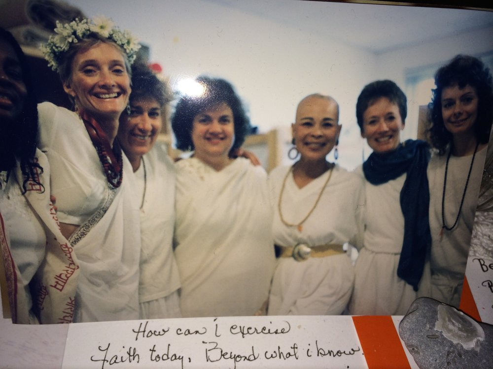 Embraced in the LIGHT on Graduation Day from Kripalu Yoga Teacher Training 1989-1990 with my Yoga siSTARS!  A journey leading to my own SpiritLIVE Awakening!