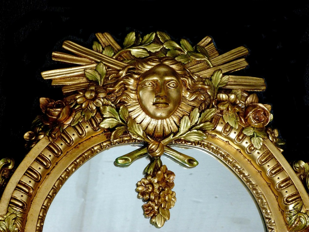 Gilded Gold Antique Mirror