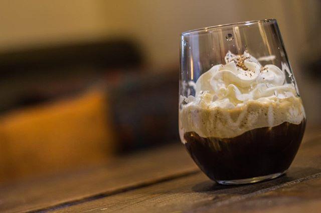 Wake up your senses with our Espresso Martini   Road Coffee Espresso Shot, Killiya Coffee Liqueur and Lucky Bastard Vanilla Vodka.  The Karma Nighttime Menu is available every Thursday - Saturday   6-10pm  #vegan #vegetarian #YXE #glutenfree #nightlife #dtnyxe #karma #plantbased