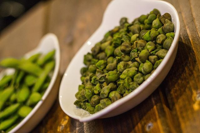 We have the sides covered too with Young Steamed Edamame and Steamed Green Chickpeas.  Come experience a new philosophy in nightlife. #vegan #vegetarian #YXE #glutenfree #nightlife #dtnyxe #karma #plantbased