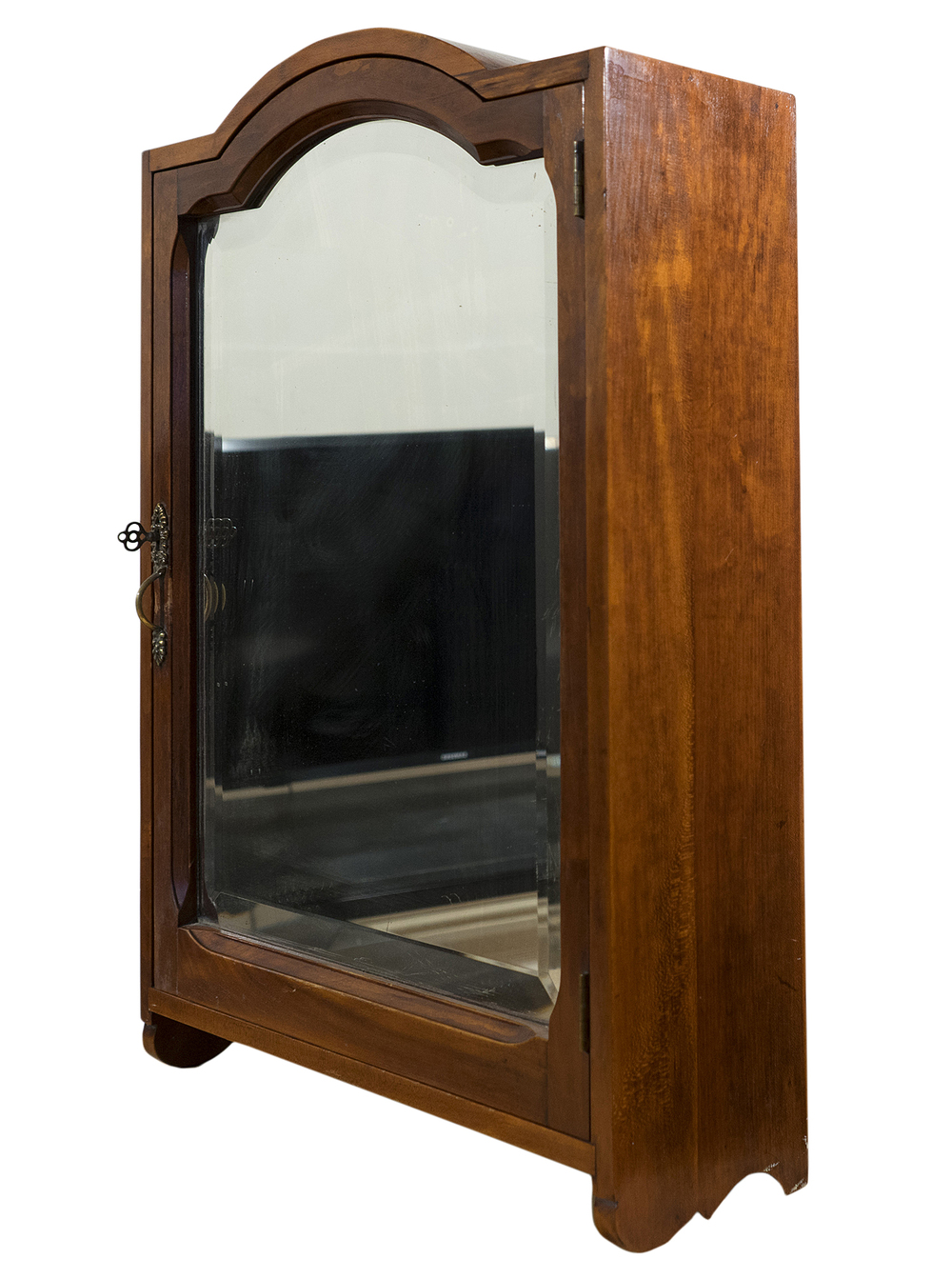 Antique Medicine Cabinet with Beveled Mirror