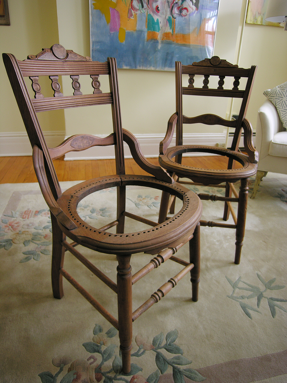 Antique Victorian Chairs, Detail Shot