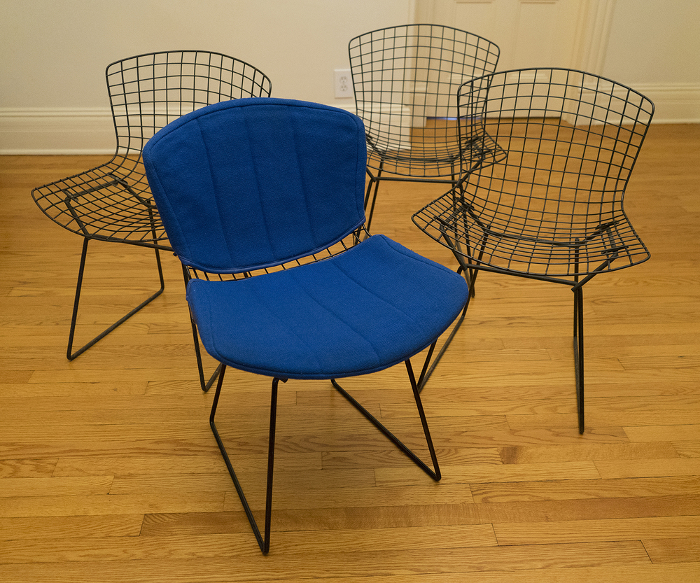 Original Harry Bertoia/Knoll Side Chairs, Set Of Four