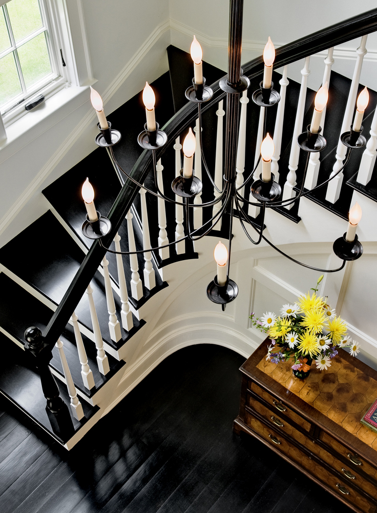 Chandelier in Stair Hall