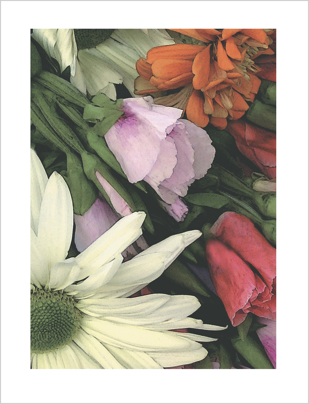 Floral Bouquet Note Card from Little Note Card
