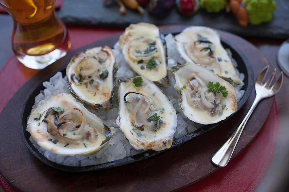 Roast Northern Atlantic Oysters at the Tavern at CIA's American Bounty Restaurant