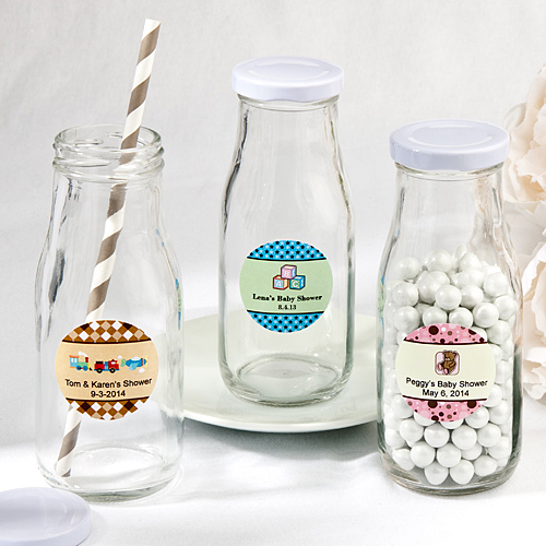 Vintage Style Milk Bottles