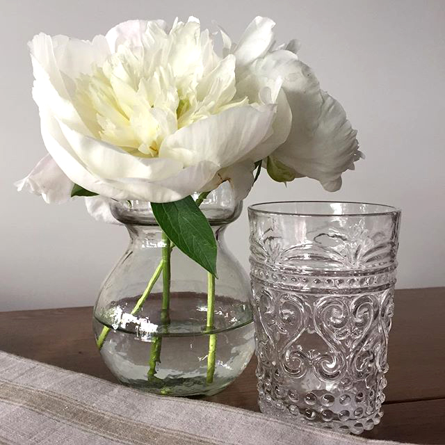 Clear Glass Vase with Italian Glassware