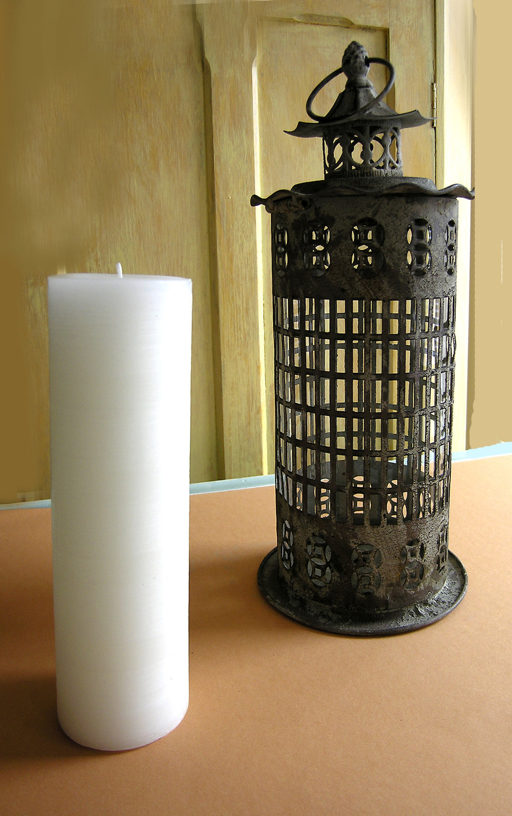 Lantern - Metal and Glass