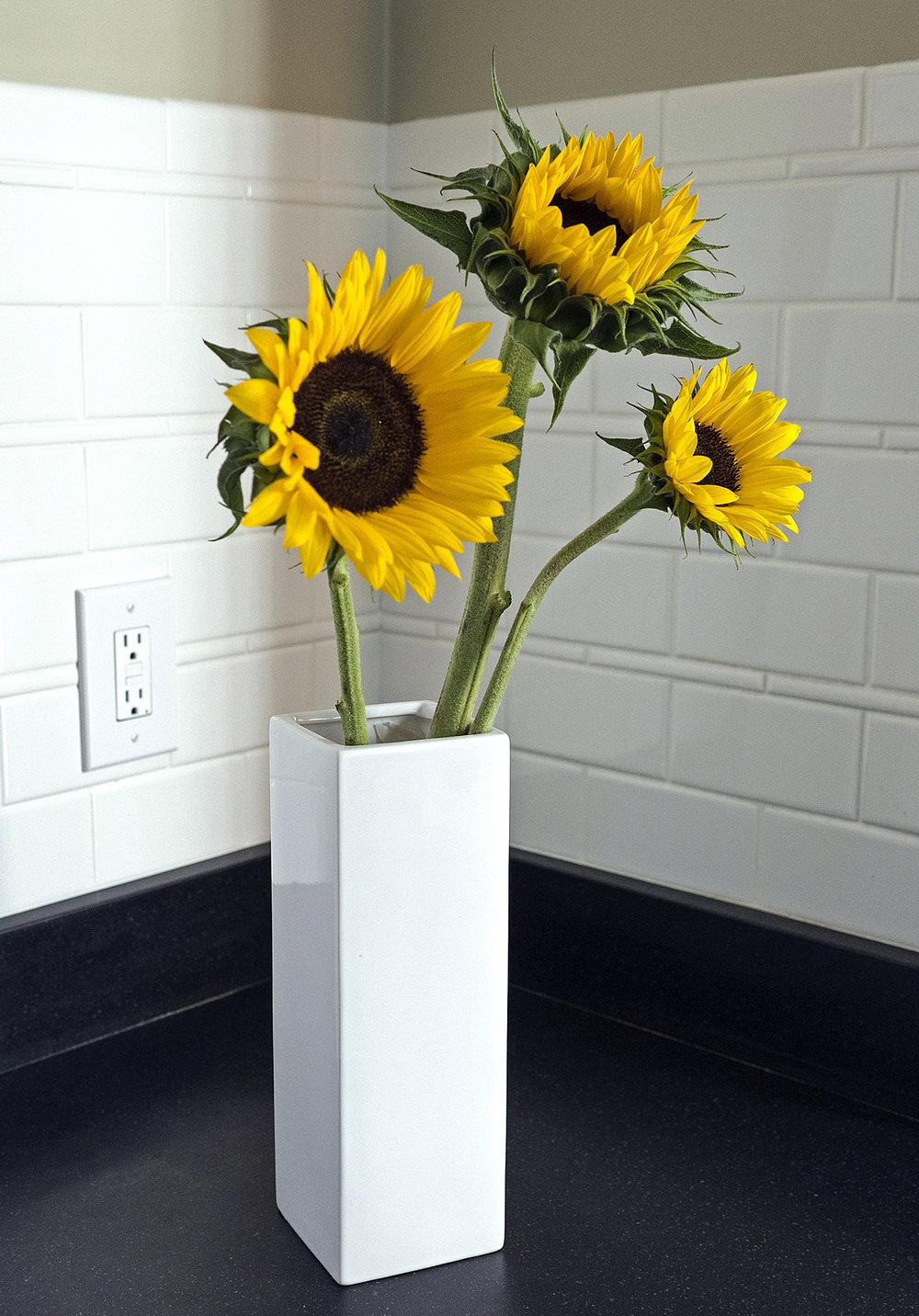 SunflowersinTallVase