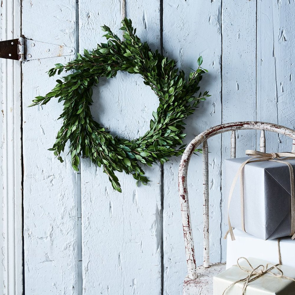 Boxwood and Myrtle Wild Wreath