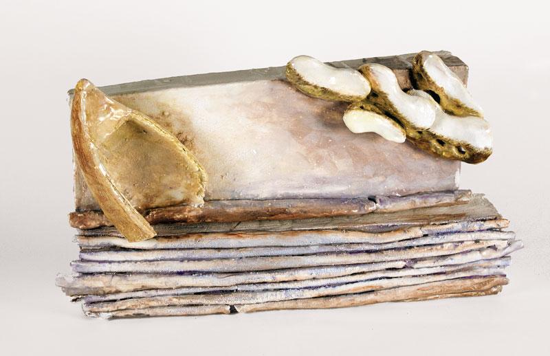36cm W; 26cm H; 10cm D  Hand Built, Glazed Stoneware, Cone 6 Oxidation