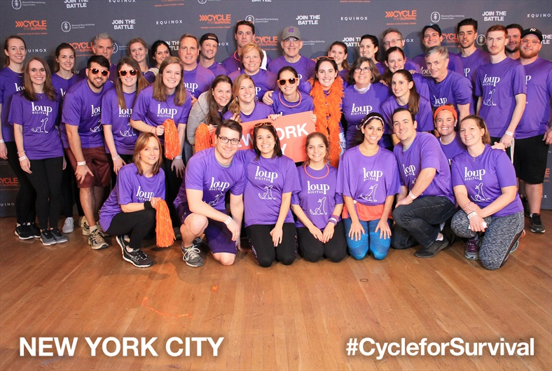 A few team members - including Co-Founder Kristin Perla - were still cycling!