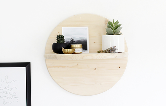 Learn how to make this Wood Circle Shelf on House One