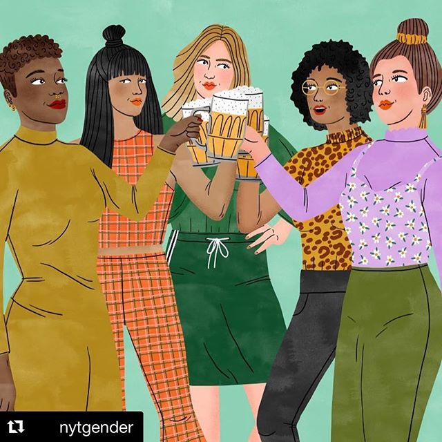 Hey, men - you're welcome.  #Repost @nytgender ・・・ Happy #NationalBeerDay! Fun fact: Beer was invented by women, who for years were the only ones allowed to brew and sell it. Cheers! 🍻| 🎨: @bodiljane