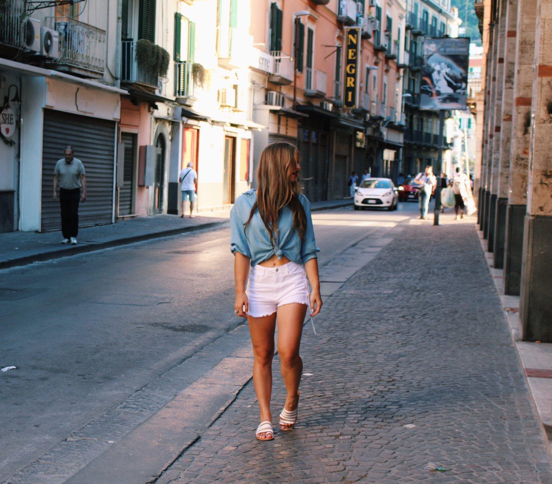 Sorrento Amalfi coast Italy travel vacation summer style fashion blog blogger ootd outfit madewell Zara