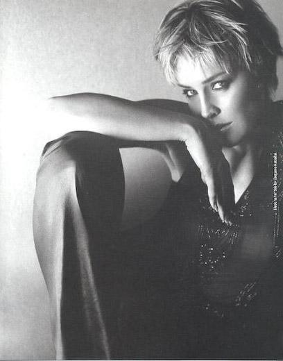 Sharon Stone, photo by Sante D'Orazio for Arena