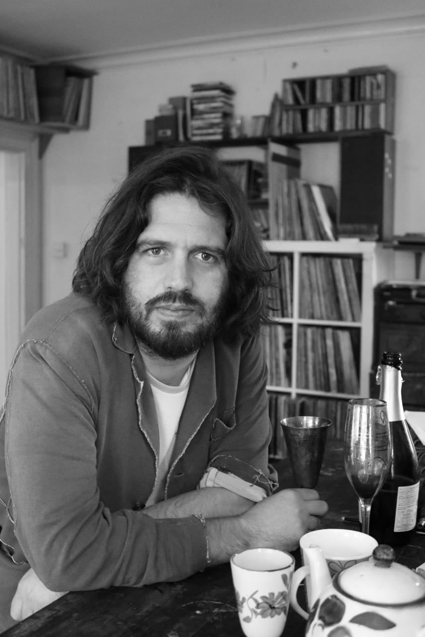 Pato Bosich in the studio in London