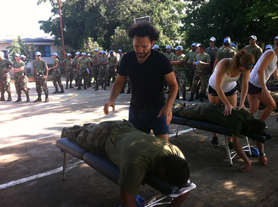 Serving the Uruguay soldiers at the United Nations base in Haiti