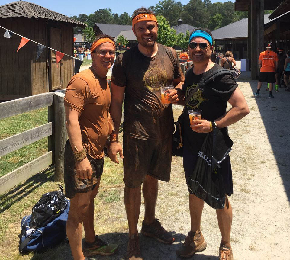 Chris running the Tough Mudder race for Promise686.
