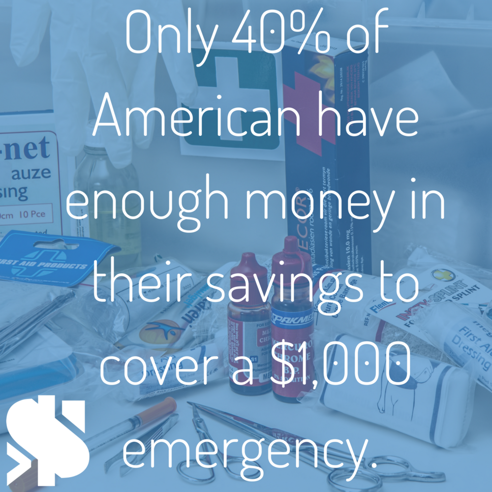 only 40% of American have enough money in their savings to cover a $1,000 emergency..png