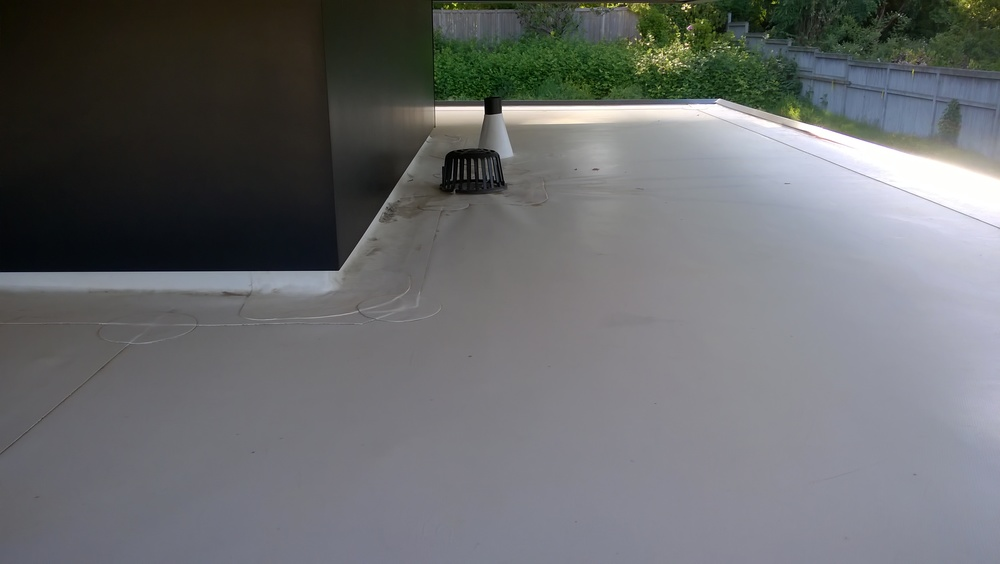 Details of installation for a vinyl roof.