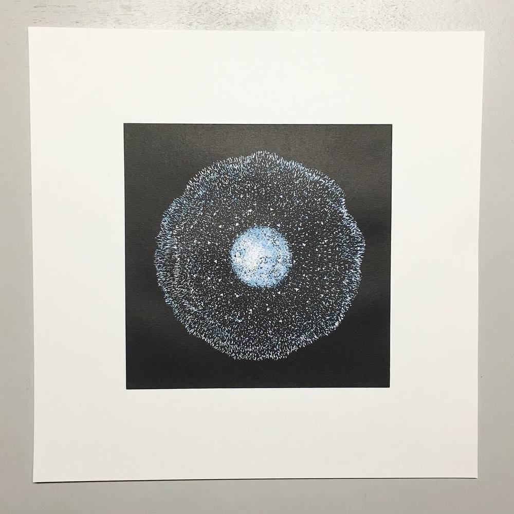 The remaining limited edition signed #screenprints from @michelsalu art series for Nils Frahm's special edition of his 'Spaces' album are being prepped for our new @depop (@saluspace) store. Available from Monday. This one is entitled #amoeba #digitalart #3dart #digitalsculpture #limitededition #newmedia #oldmedia #contemporaryart #digitalillustration #generativeart #nilsfrahm #space #nasa #molecular #spaces #erasedtapesrecords #vinylmeplease #albumart #timeandspace #spaceandtime #spacetravel (hier: Berlin, Germany)