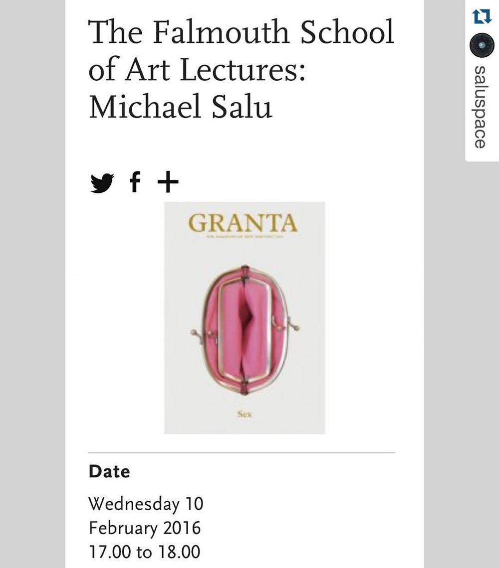 #Repost @saluspace with @repostapp. ・・・ What is an artist? Next week @michelsalu will be giving an art lecture @falmouthuni discussing a polymathic career that straddles design, art, creative writing, criticism and more. Pictured is the classic Granta Magazine Sex issue cover, acknowledged by @d_and_ad and @coverjunkie in 2010. #creativedirection #artcareer #artist #multidisciplinary #creativewriting #creativefiction #artdirection #magazinecover #magazinedesign #duchamp #michaelsalu #graphicdesign #classicdesign #designer #awardwinningdesigner #creativedesign #conceptualartist #conceptualart #bookdesign #creativethinking #polymath #creativeminds (hier: Falmouth University)