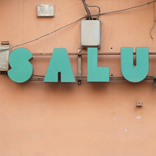 We need this! #regram @presentandcorrect #saluspace #typography #retrosign #foundtype  (at Prenzlauer Berg, Berlin, Germany)
